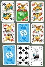 Collectible Non-standard German Playing cards. Haschen skat 1977